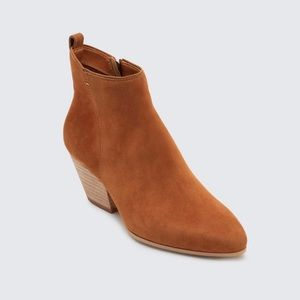 Dolce Vita Suede Pearce Booties in DK saddle